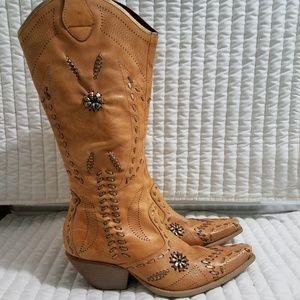 BCBGirls Stitched Western Cowboy Boots